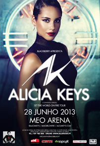ALICIA KEYS Set The World On Fire Tour - 28 JUNHO 2013, MEO ARENA