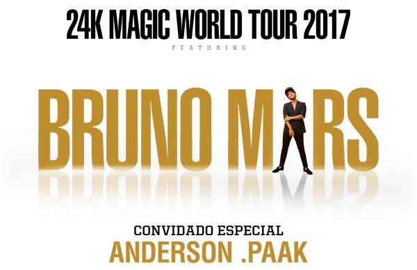 BRUNO MARS - 24K MAGIC TOUR: 4 ABR, MEO Arena