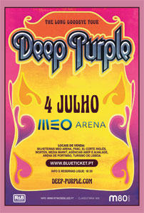 DEEP PURPLE: The Long Goodbye Tour - 4 JULHO, MEO Arena