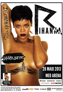 RIHANA Diamonds World Tour - 28 Maio 2013, MEO ARENA